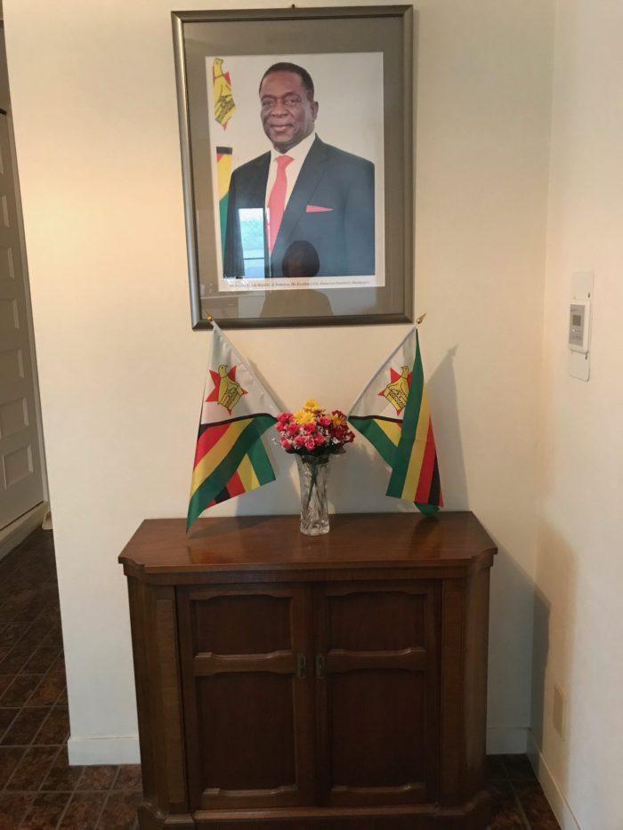 大使館でお茶を第25回ジンバブエ大使公邸
