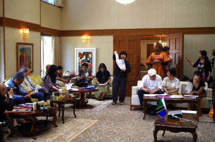 国際芸術家センター「大使館でお茶を第1回タンザニア大使館」お国プレゼン。