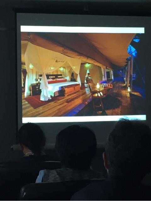 国際芸術家センター「大使館でお茶を第3回ボツワナ大使館」サファリツアーのテント式ホテル