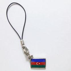 アゼルバイジャン国旗ストラップ