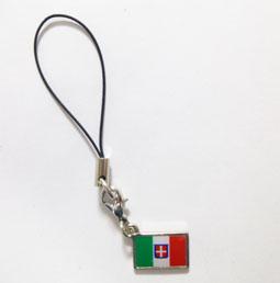 イタリア国旗ストラップ
