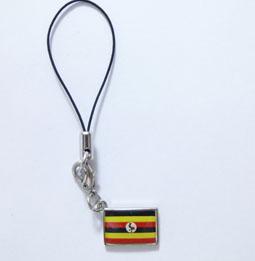 ウガンダ国旗ストラップ