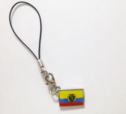 エクアドル国旗ストラップ