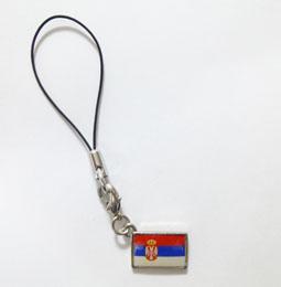 セルビア国旗ストラップ