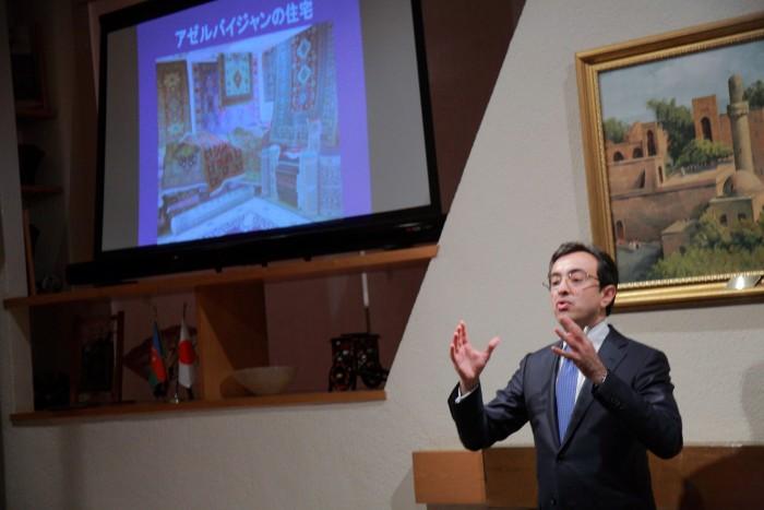 国際芸儒家センター「大使館でお茶を第4回アゼルバイジャン大使館」特命全権大使ギュルセル· イスマイルザーデ氏