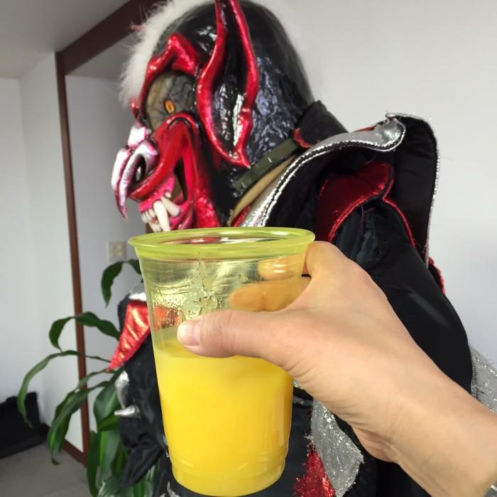 「大使館でお茶を第6回ドミニカ共和国」ラム酒でラムパンチを頂きました。
