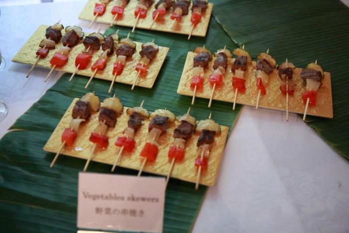 「大使館でお茶を第5回マダガスカル大使館」マダガスカル風野菜の串焼き