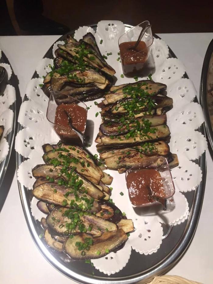 アルメニア大使館共催イベント「アルメニア文化週間2016」日本の茄子料理、茄子のシギ焼き