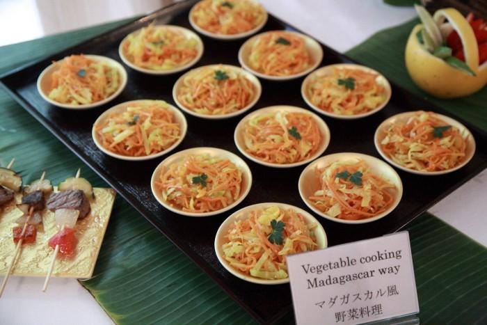「大使館でお茶を第5回マダガスカル大使館」マダガスカル風野菜料理