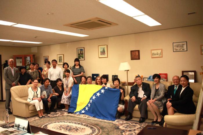 「大使館でお茶を第9回ボスニア・ヘルツェゴビナ大使館」集合写真