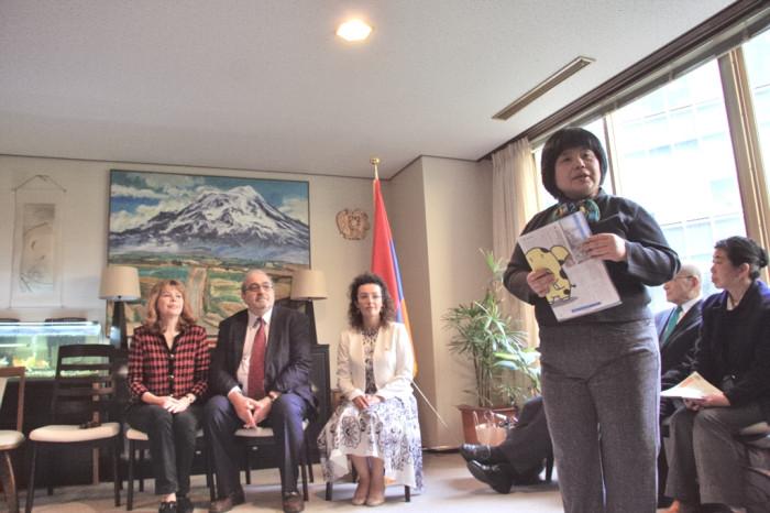 IAC金屋より挨拶 アルメニア大使館