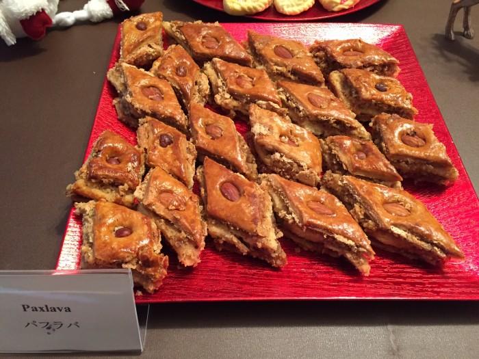 国際芸儒家センター「大使館でお茶を第4回アゼルバイジャン大使館」アゼルバイジャンの菓子パクラバ。