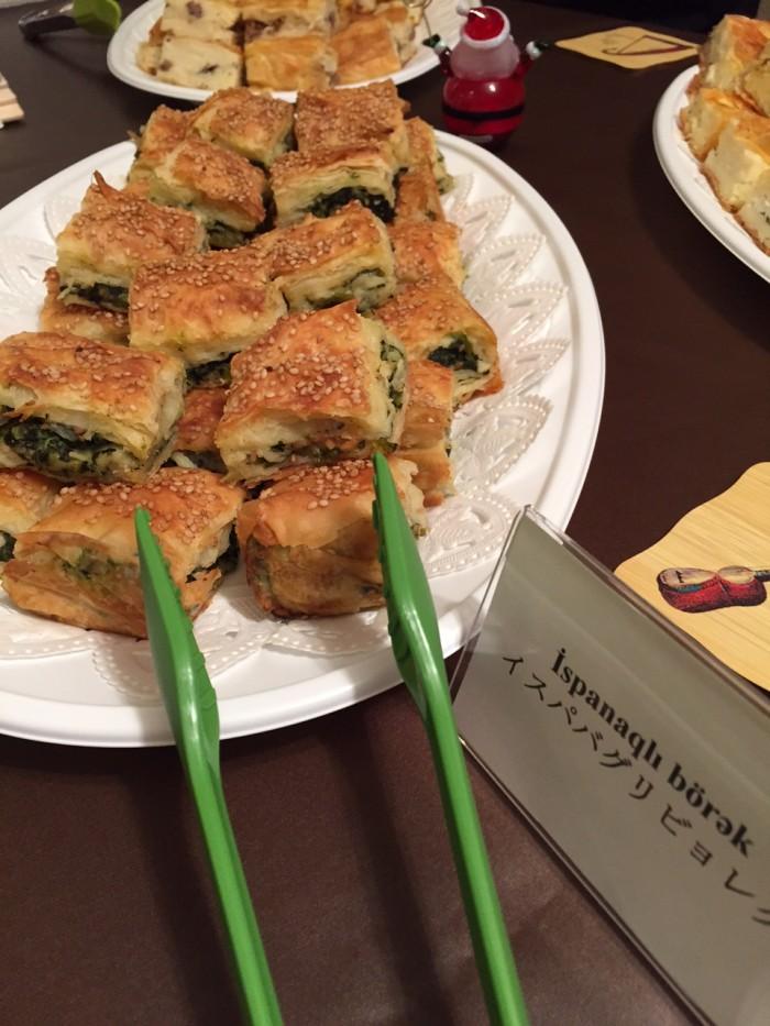 国際芸儒家センター「大使館でお茶を第4回アゼルバイジャン大使館」アゼルバイジャン料理イスパパグリビョレク